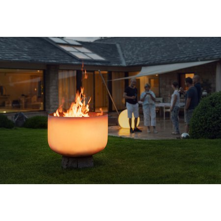 Glas-Feuerschalen-Set Dream-Light Quarz 64 cm