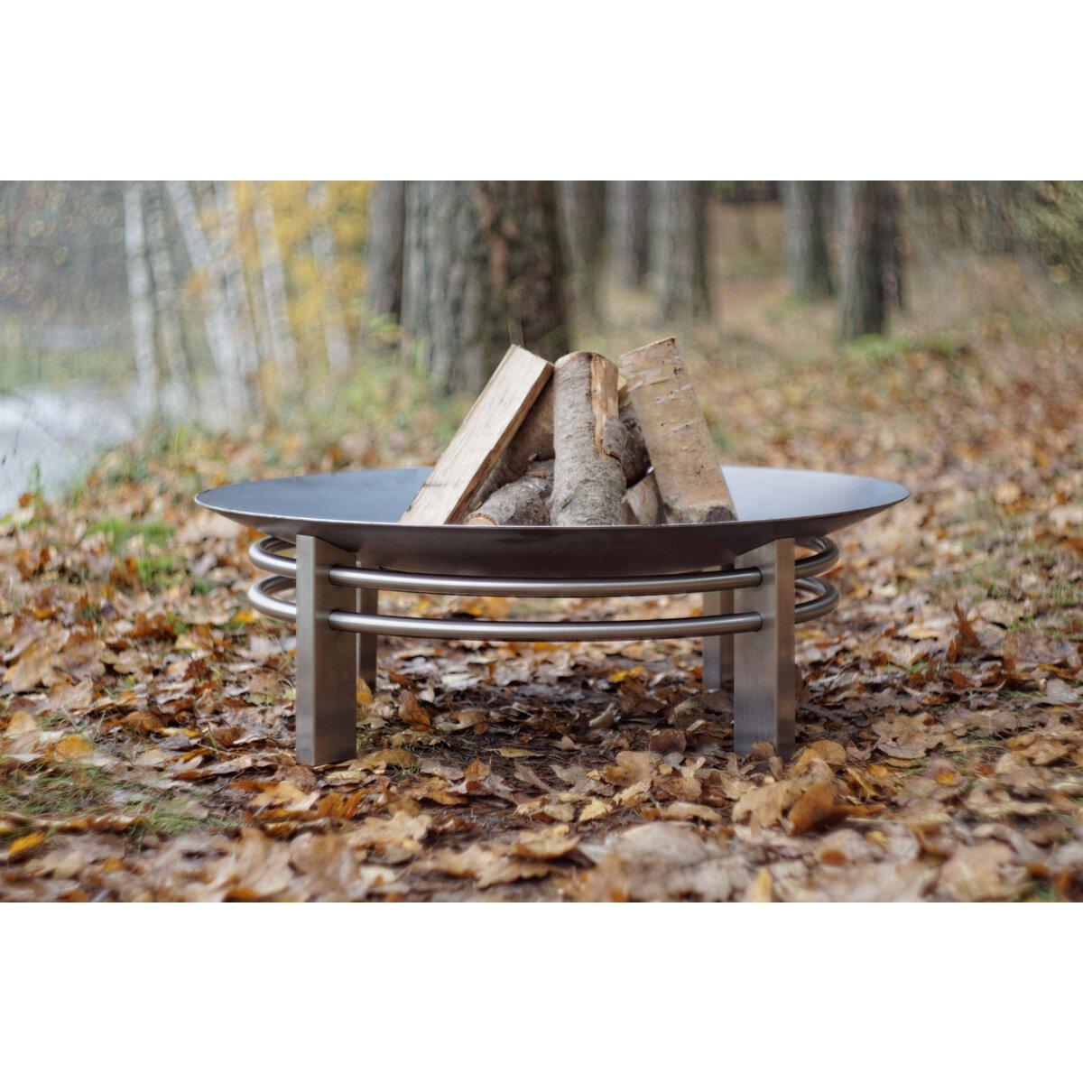 Schwenkgrill mit Kessel Gusseisen und Feuerschale 60cm Pan 34 Dreibein Grill BBQ